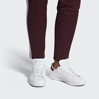 Adidas Stan Smith Bayan Originals Ayakkabısı Beyaz/Bordo | 52716-967 TR